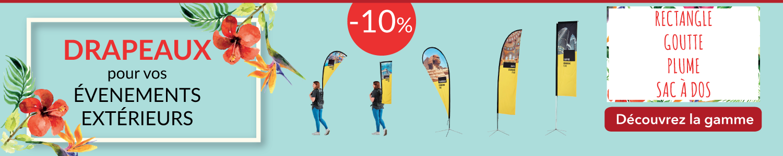 -10% sur les drapaux personnalisés