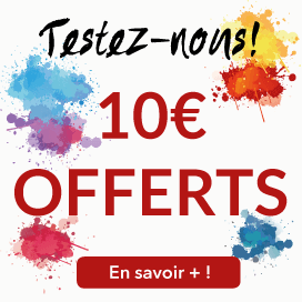 10€ offerts pour nous tester !