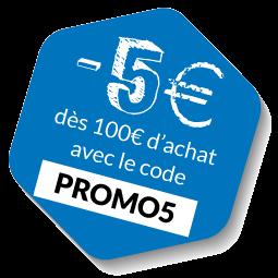 -5€ avec le code PROMO5