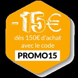 -15€ avec le code PROMO15