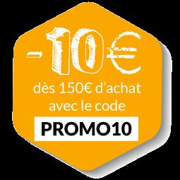 -10€ avec le code PROMO10