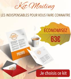 63€ d'économies sur votre Kit mailing