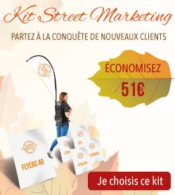 51€ d'économies sur le kit street marketing