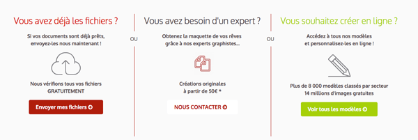 options mise en page