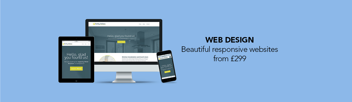 Web Design -  Beautiful responsive websites  from £299