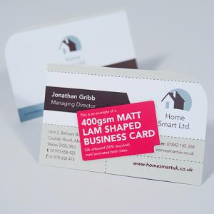 400gsm Matt Lam Business Cards
