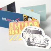StarMarque Spot UV Folding Business Cards