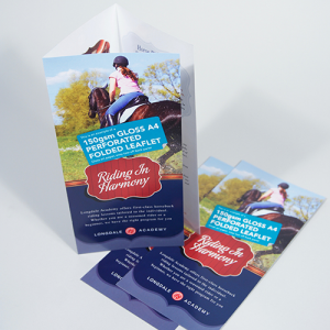 150gsm Gloss Folded Leaflets