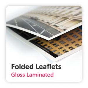 Gloss Laminated Folded Leaflets