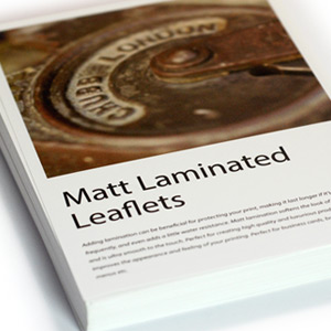 Matt Laminated Leaflets
