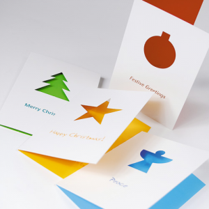400gsm Windowed Christmas Cards