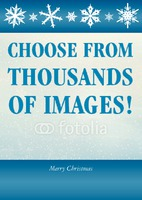 Christmas Card with message Blue by Templatecloud