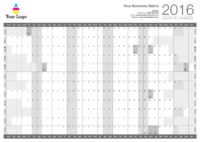 Wallplanner Grey 2016 by Templatecloud