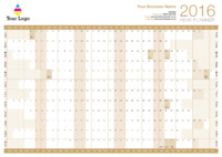 Wallplanner Gold 2016 by Templatecloud
